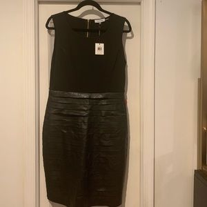 Partial leather dress